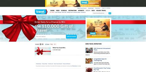 Travel Sweepstakes 2014 - travel channel gift of travel sweepstakes