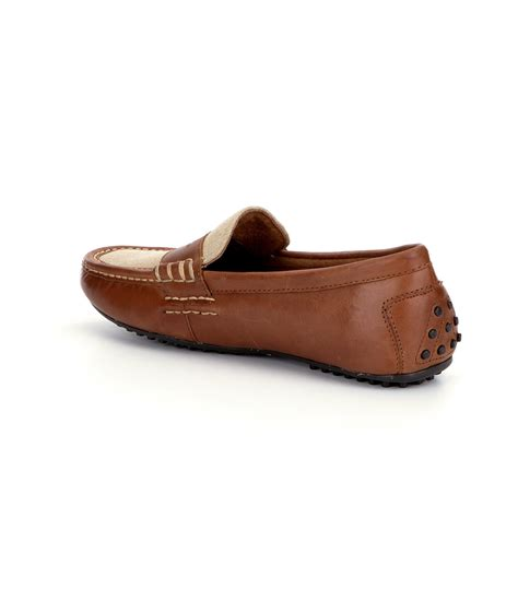 ralph loafers polo ralph 180 s wes ii loafers in brown for