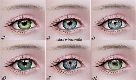 sims 4 cc sclera contact my sims 3 blog contacts n7 n12 with updated sclera by