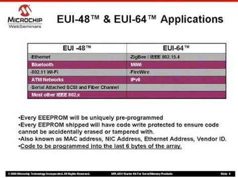 Mac Address Lookup Ieee Understanding Eui 48 Enabled Mac Address Chips