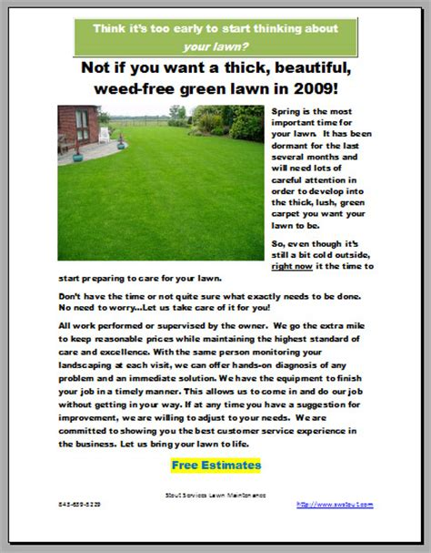 lawn care marketing exles lawn care business marketing tips gopherhaul