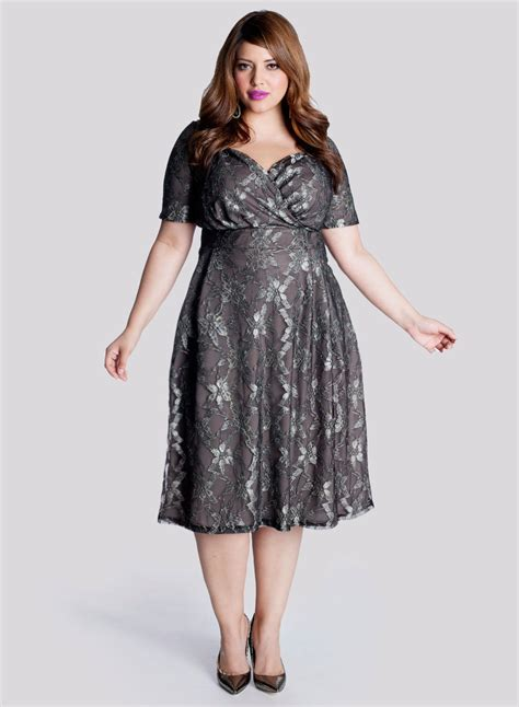 clothing for plus size women over 55 marisol plus size lace dress in truffle celebrate in