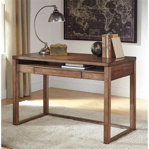 Small Brown Desk Baybrin Laptop Desk In Rustic Brown H587 10