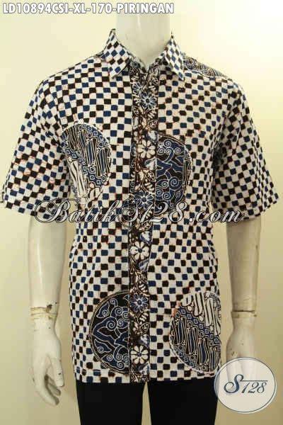 Fashion Baju Kemeja Hem Pria Motif Batik Lengan Pendek David koleksi baju batik fashion untuk pria model lengan pendek