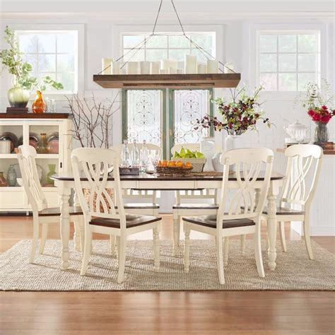Country Dining Room Set Dining Room Set Country Antique Furniture Oval Table Chair White Brown 7 Room Set