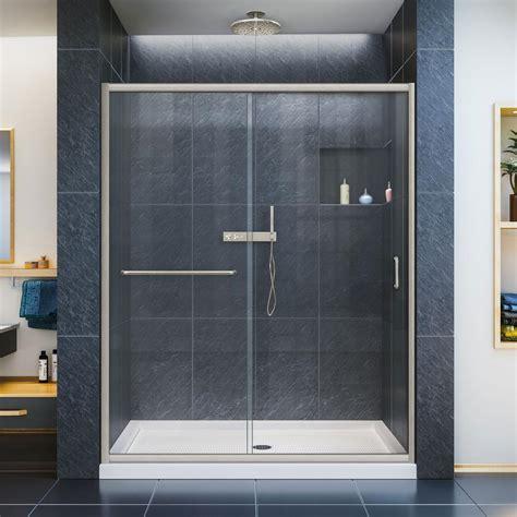 Dreamline Infinity Shower Door Dreamline Infinity Z 36 In X 60 In X 74 75 In Framed Sliding Shower Door In Brushed Nickel