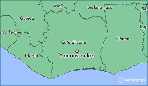 yamoussoukro africa map where is yamoussoukro cote d ivoire where is