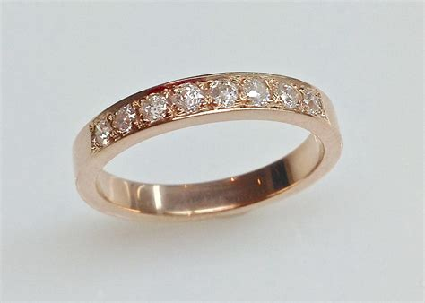 rose gold wedding ring  pave diamonds keezing kreations