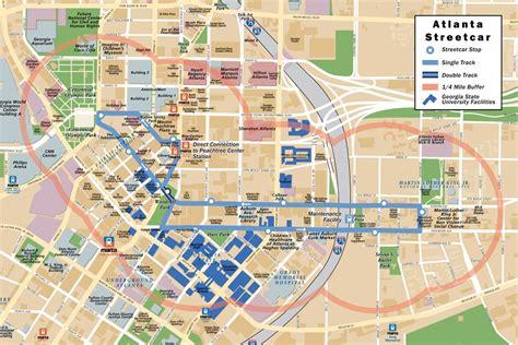 street map of downtown atlanta georgia map of atlanta tourist travelquaz com