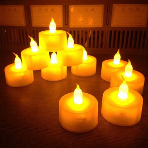 6x New Flameless Flickering Led Tea Light Candles New 12 Pcs Flickering Flameless Led Tea Light Flicker Tea Candle Light Wedding Candels