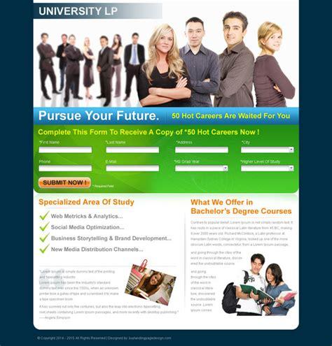 Bachelors Degree Education Lp Sale 022 Landing Page Design Sale Preview Education Landing Page Templates Free