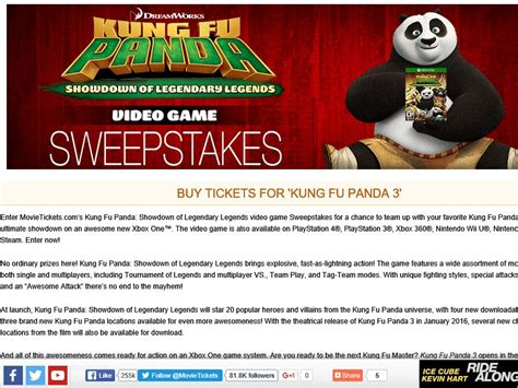 Sweepstakes Fanatics - the movietickets com kung fu panda 3 sweepstakes sweepstakes fanatics