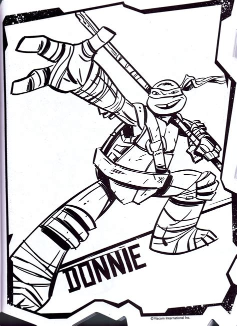 free coloring pages of donatello turtle