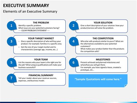 Executive Summary Powerpoint Template Sketchbubble Executive Powerpoint Templates