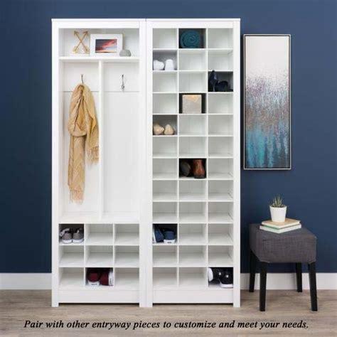 prepac space saving entryway organizer  shoe storage