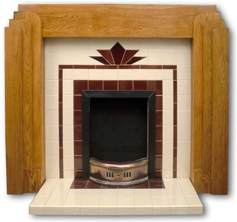 Deco Fireplace Tiles by Craddock Deco Tiled Fireplace Insert Twentieth