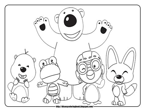 Pororo Coloring Pages pororo the penguin free disney coloring sheets learn to coloring