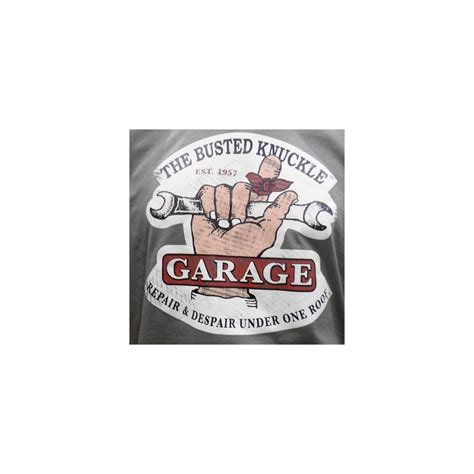 The Busted Knuckle Garage by The Busted Knuckle Garage Logo T Shirt Green