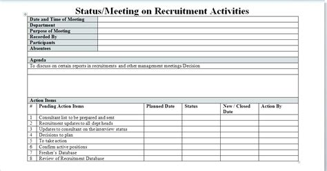 Recruitment Action Plan Template Azserver Info Recruitment Plan Template Excel