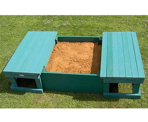 sandpit bench sandbox w sliding bench seat cover sandboxes sandpits