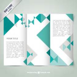 Geometric Templates by Geometric Brochure Template Vector Free