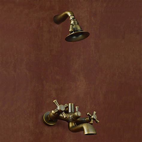 Antique Bathtub Faucets by Wall Mount Antique Style Antique Brass Finish Tub Faucets