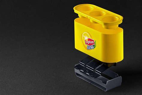 Dispenser Unilever lipton tea straw dispenser upstairs yellow
