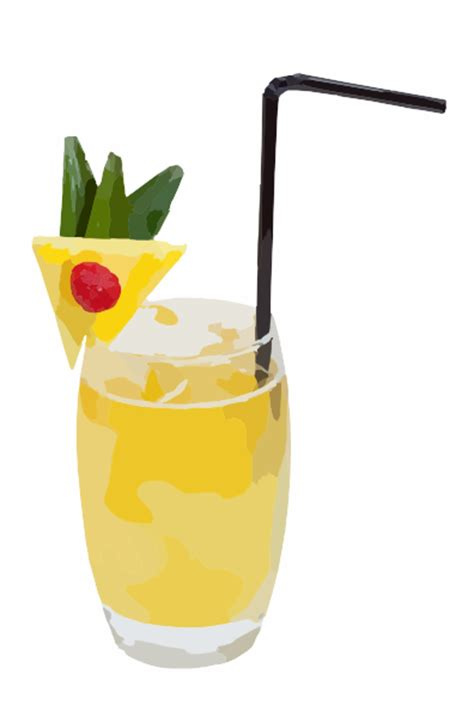 cocktail clipart pineapple cocktail clip at clker com vector clip