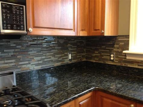Slate Tile Kitchen Backsplash Kitchen Backsplashglass Tile And Slate Mix Kitchen Backsplash Traditional Kitchen Detroit