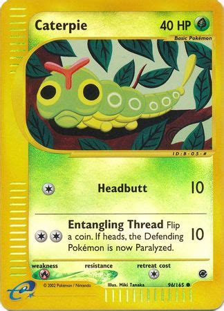 Ds 004 Set Miki Ripped caterpie 96 165 common holo expedition
