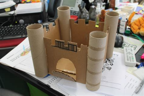 How To Make A Paper Castle - room 104 in progress 3rd grade cardboard castle