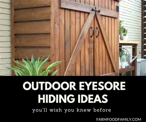 awesome diy outdoor eyesore hiding ideas  beautify