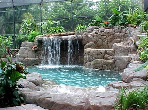 small waterfalls backyard small backyard waterfall cool swimming pools ideas