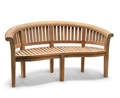 teak banana bench super deluxe teak banana bench peanut bench