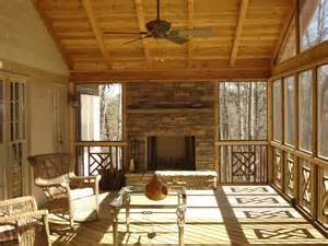 screened in deck with built in fireplace archadeck outdoor living