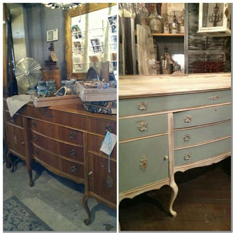 blue and white chalk painted dresser before and after duck edd blue and old white annie sloan