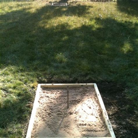 backyard horseshoe pit pin by john drogos on my projects and ideas pinterest