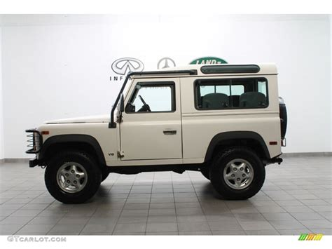 land rover defender white alpine white 1997 land rover defender 90 top exterior