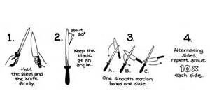 how to sharpen kitchen knives at home kitchen knife sharpening home design ideas and pictures
