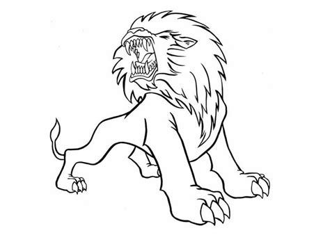 free coloring pages of african lion