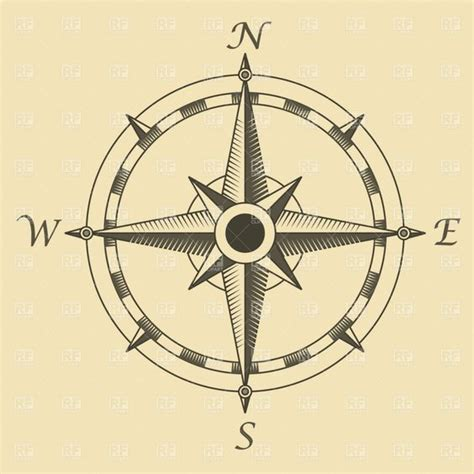 nautical compass rose tattoo compass travel royalty free vector clip