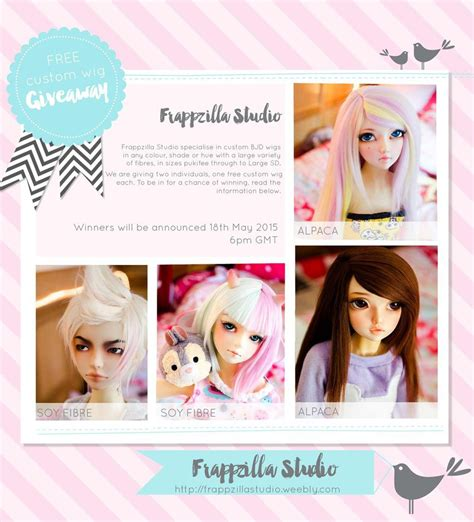 Wig Giveaway 2017 - bjd wig giveaway by frappzilla on deviantart