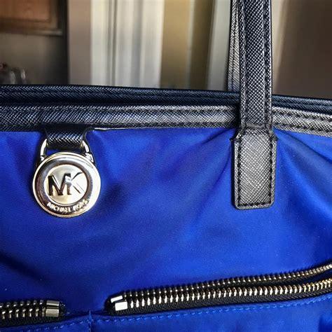 michael kors vinyl purse michael kors royal blue vinyl kelsey tote tradesy
