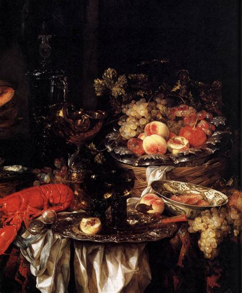 banquet still life with a mouse detail 1667 painting