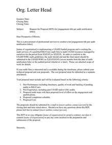 Rfp Cover Letter Exles by Sle Rfp Cover Letter In Word And Pdf Formats