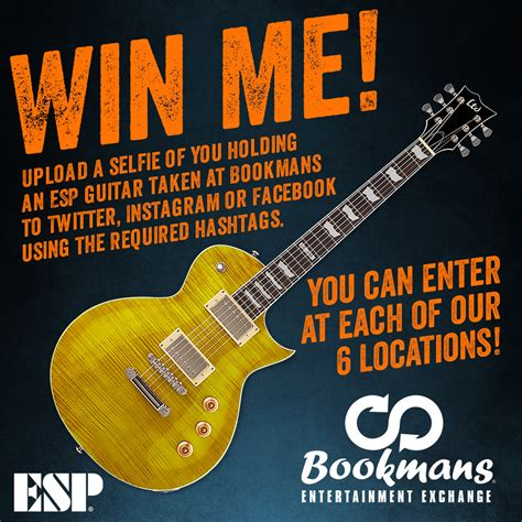 Guitar Giveaways - win a guitar in our esp giveaway bookmans entertainment exchange