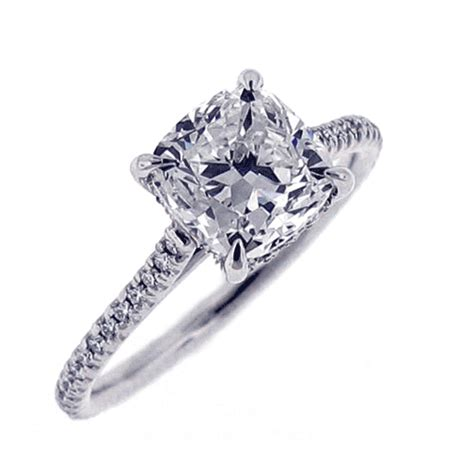cusion diamond cushion cut diamond ring
