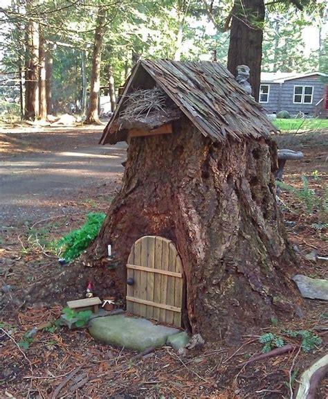Secret Log Cabins by Tree Stump House For Secret Garden At The Log Cabin