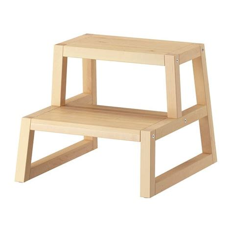 ikea 2 step wooden stool molger step stool ikea