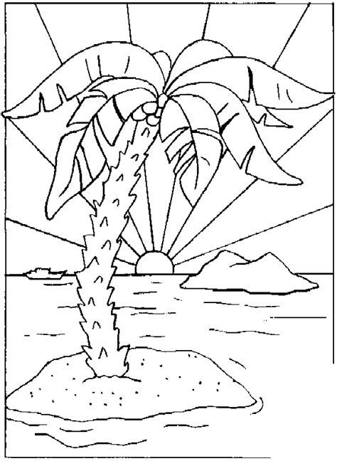Palm Tree Coloring Pages Coloringpagesabc Com Palm Tree Coloring Page